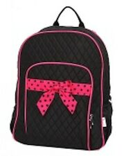 PERSONALIZED QUILTED MONOGRAMMED LARGE SCHOOL BACKPACK  CHILD BOOK BAG -6 Colors