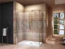 WALK IN SHOWER ENCLOSURE CUBICLE TRAY CURVED GLASS SCREEN 1200 1400 800 900