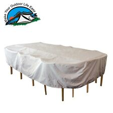 Water/UV Resistant Durable Outdoor Patio Oval Rectangular Table and Chair Cover
