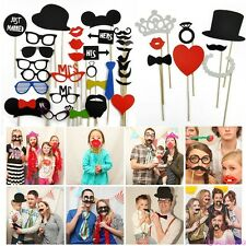 Photo Booth Props Moustache Lips Hat On A Stick Party Wedding X-mas Photography