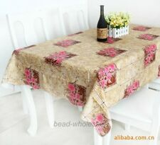 #8European Style PVC Waterproof Oilproof Dinner Table Tea Table Cloth Tablecloth