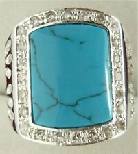 Jewellery men's turquoise ring size :8# 9#,10#,11#,