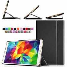 """PU Leather Smart Book Case Magnetic Cover for Samsung Galaxy Tab S 8.4"""" SM-T700"""