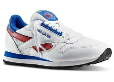 Reebok M42209:CL LEATHER RE Classic Retro WHITE/Blue/Red Casual Sneakers Men NEW