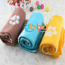 Morbido Handcrafted Accogliente caldo Mat Blanket Paw Prints Pet Dog Cat Fleece
