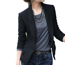 New Hot Women Korea Slim Suit Blazer Coat Jacket Long Sleeve Business Outwear