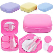 Cute Mini Contact Lens Case Box Travel Kit Mirror Container Holder Candy Color