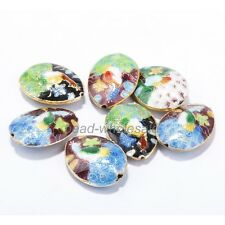 25mm Great Equisite Teardrop Cloisonne Beads Spacer Various 20pcs
