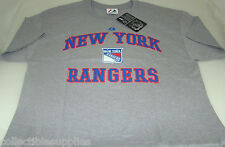 New York Rangers Majestic Heart and Soul Men's Tee T-Shirt - Ash