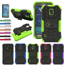Armor Hard Combo Protective Case Cover For Samsung Galaxy S5 Active G870 + Film