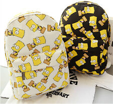 New Preppy Style Naughty Boy Pattern Canvas Backpack Portable Traveling Bag H539