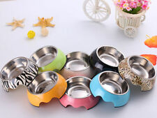 Colorful Round Food Water Feeding Feeder Bowl Dish for Pet Dog Puppy