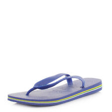 Womens Mens Unisex Havaianas Brasil Marine Blue Flip Flops Sandals All Size
