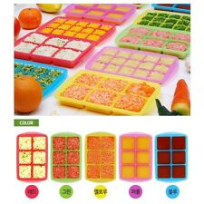 Ice cube tray with lid_Storage and Freezing_Baby Food, Vegetable, Fruits juice L