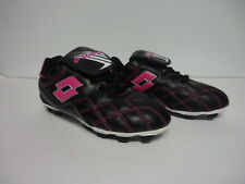Lotto Girls Youth Soccer Cleats Shoes Pink Black Girl Size 13 12 1 2 3 4