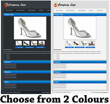eBay Professional HTML Auction Listing Template with Image Gallery in 2 Colours