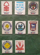 Mobil - Silk Type Football Badges  -Select From Below