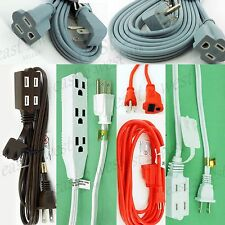 1EXTENSION Cord UL 3' 6' 12' 15' 20' 25' Electric Cable Power SPT-2,3 Outlet-NEW