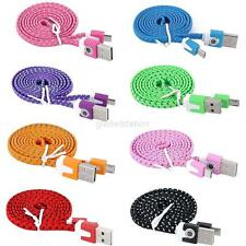Hemp Rope Micro USB Charger Charging Sync Data Cable 1M/3FT Cord for Cell Phone