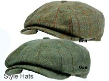 Men'8 Panel Tweed Baker boy News boy Gatsby Hat Brown Quality Hats & Caps