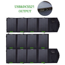 18V Portable Foldable Solar Panel Battery Charger Dual Output For Laptops/Phones