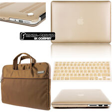 Gold Champagn Rubberized Hardshell Case Cover For Apple MacBook Air /Pro/ Retina