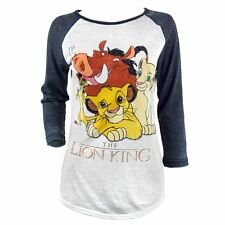 Official Womens Disney's The Lion King Baseball T Shirt NEW Long Sleeve