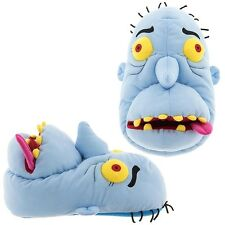 New Zombie Monster Slippers for Men Blue Yellow Eyes Red Tongue Novelty Adult