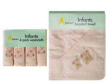 Abstract BABY 4 Pk Infant WASHCLOTHS and Hooded TOWEL Baby GIFT SET