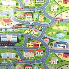 ROAD MAP CHILDREN WIPE CLEAN PVC OILCLOTH WIPEABLE TABLECLOTH CO click for sizes