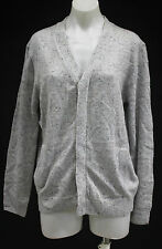 PHILLIP LIM FOR TARGET BUTTON FRONT CARDIGAN SWEATER HEATHER GRAY (10-M)