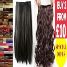 Hair Extension Curly Straight Half Full Head Clip in Feels like Remy Human Long