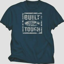 FORD BUILT FORD TOUGH VINTAGE NAVY BLUE TEE SHIRT