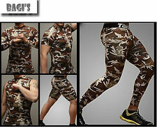 [Military]Take Five Mens Muscle Compression Active Gym Base Underlayer T & Pants