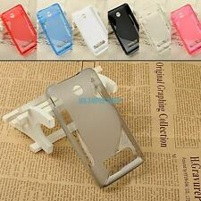 for nokia asha 210 case phone back skin tpu gel cover s-line phone shell