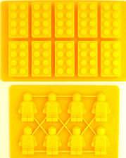 LEGO BRICK AND MINIFIGURE ICE TRAY CHOCOLATE MOULD sent 1st class