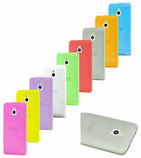 Colorful Ultra Slim Crystal Clear Hard Back Hybrid Case for HTC One Mini