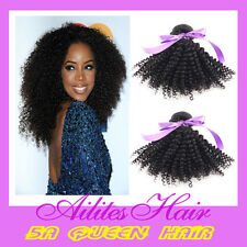 """100% brazilian Human Hair weft Unprocessed kinky curly 12-26"""" DHL free shipping"""