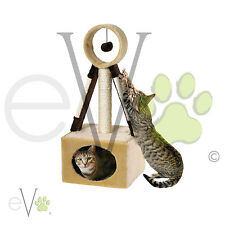 Cat n Scratch Satellite Post Play Scratching Pole Ball and Mice Kitten Toy