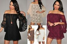 Fashion New Lace Cap sleeve Off Shoulder Sexy Club party Cocktail Dress A207