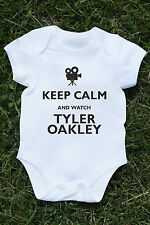 Keep Calm and watch Tyler Oakley baby vest youtube blogger trxye viral  K517