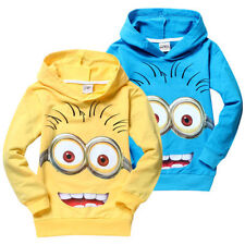Cute Costume Despicable Me Minions Kids Boys Girls Hoodies Coat Clothes 1-7Years