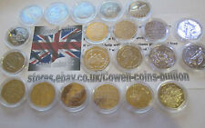 Various Commemorative & Regional 50p Coins Fifty pence UNC - VF /PLASTIC WALLET