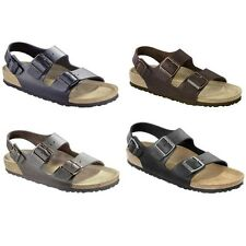 Birkenstock Milano Sandals Leather - regular or narrow - black brown white blue