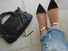 ZARA *Black Pointy Shoes With Ankle Strap* NEW_UK3_4_5_6_7_8