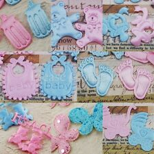100 Fabric Applique Embellishments for Scrapbooking & Baby Shower