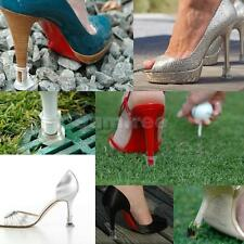 Footful Clear Stiletto High Heel Covers Protectors Stoppers -Stops Heel Sinking