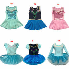 Girls Kids Party Fairy Ballet Dance Tutu Skirt Skate Dress 3-9Y Leotard Costumes
