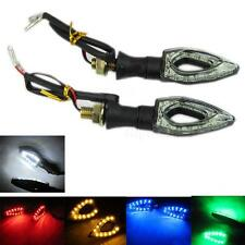 2x Universal Motorcycle 12 LED Turn Signal Indicators Blinker Amber Light