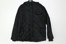 NEW Boys Black Quilted Jacket Coat Age 7-8, 9-10 Years *FREE P&P*